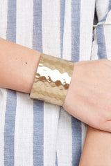 1 Make Them Stammer Gold Cuff Bracelet at reddressboutique.com
