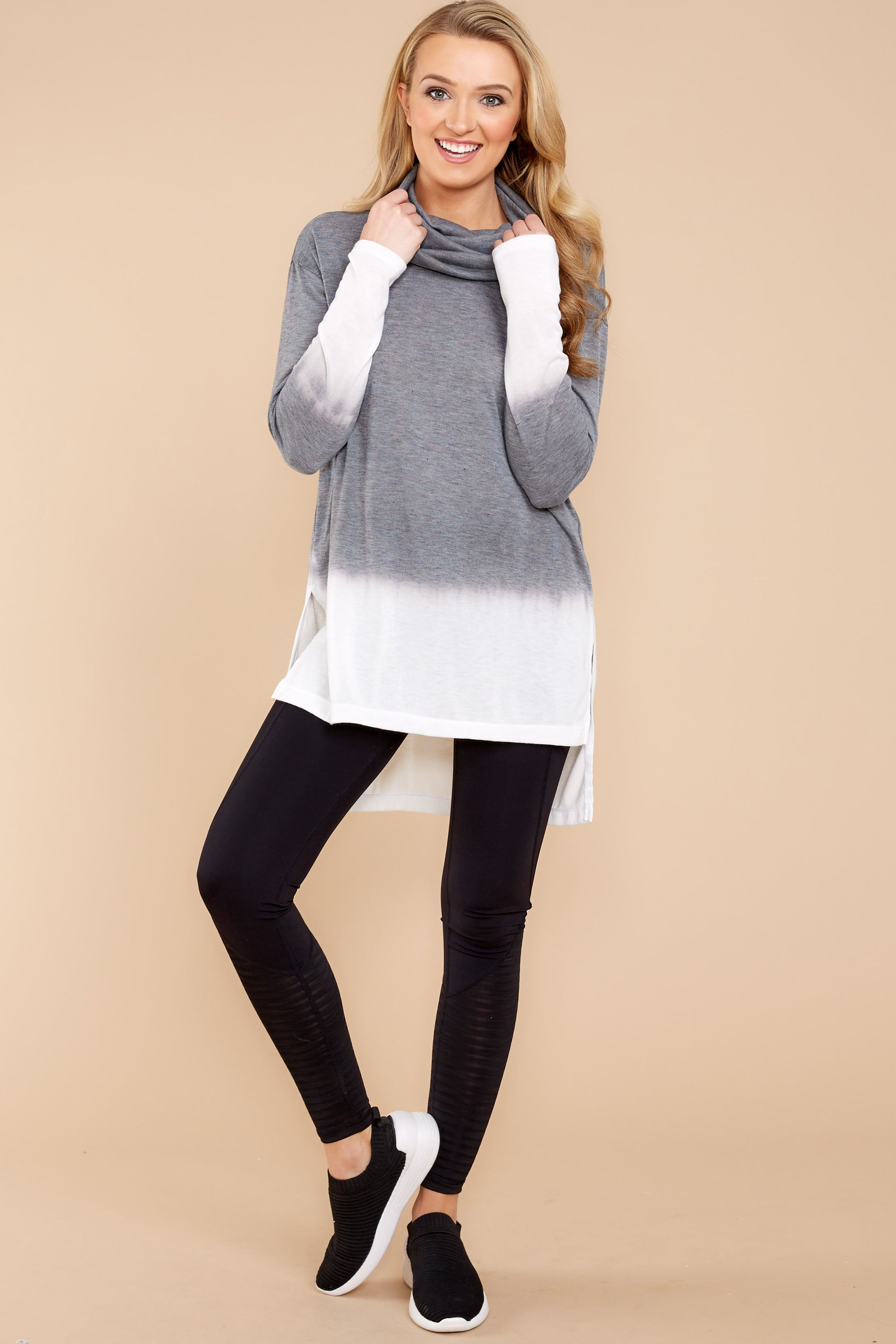 2 Take The Long Way Dark Grey Sweater at reddressboutique.com