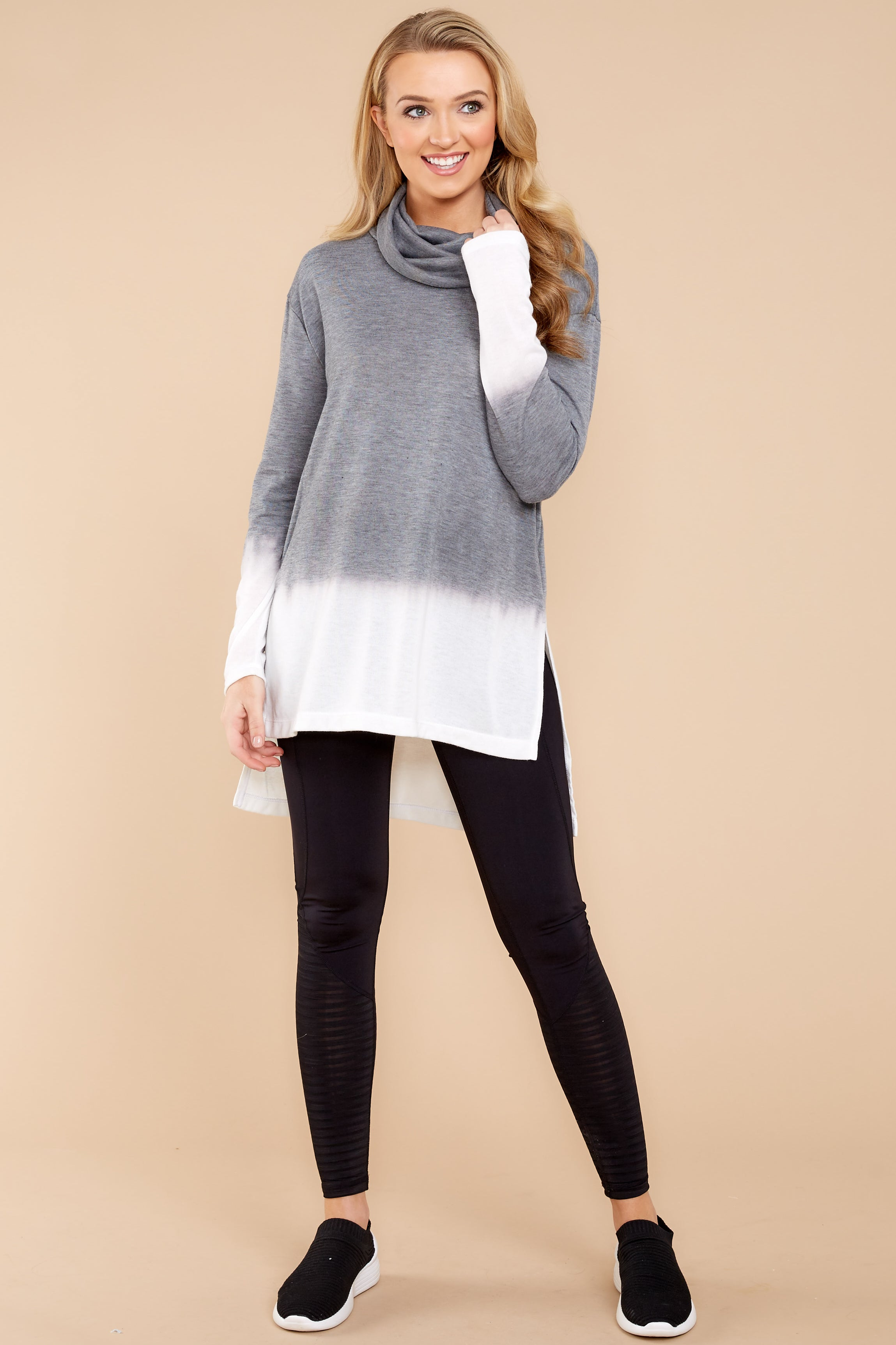 3 Take The Long Way Dark Grey Sweater at reddressboutique.com