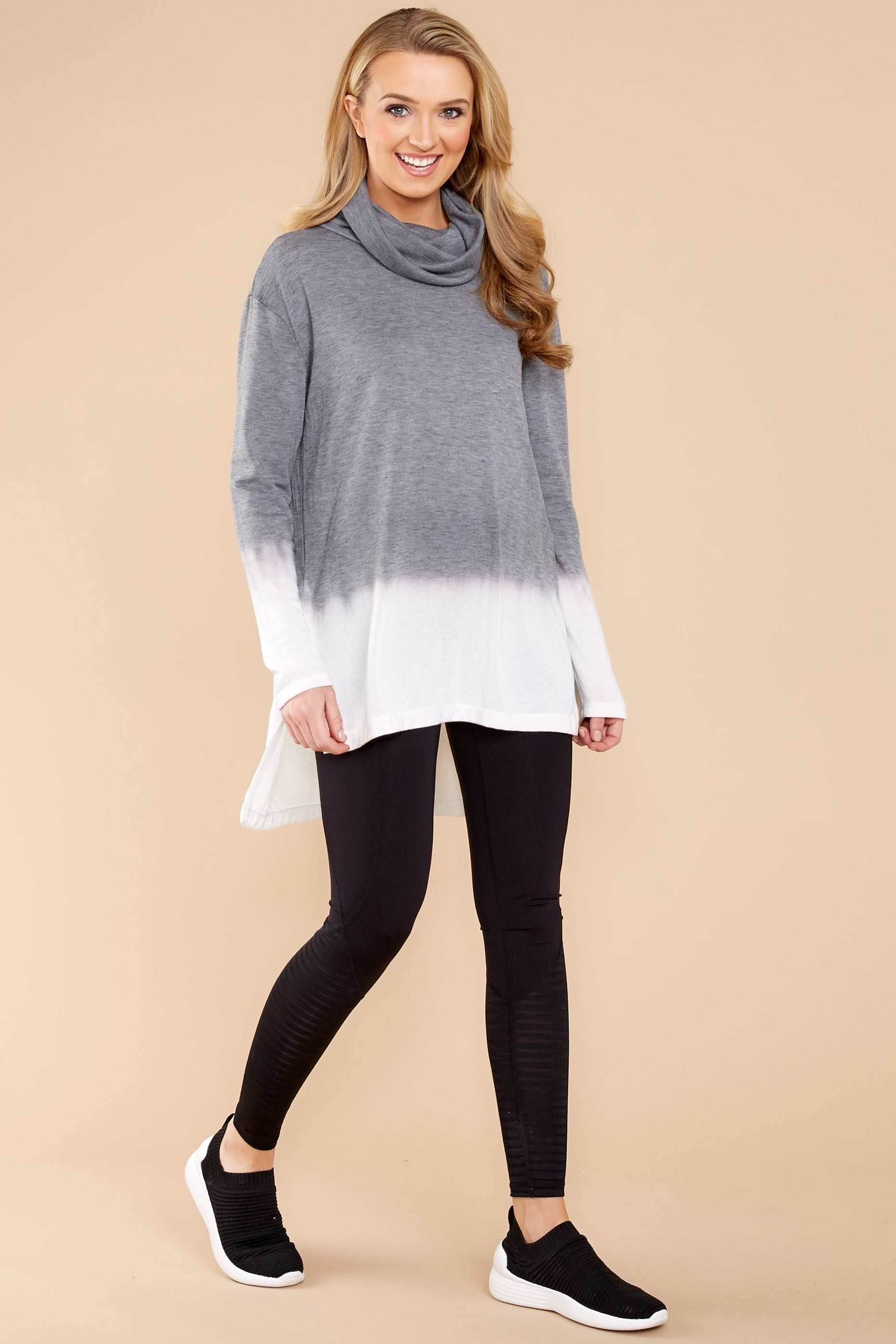 4 Take The Long Way Dark Grey Sweater at reddressboutique.com