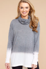 5 Take The Long Way Dark Grey Sweater at reddressboutique.com