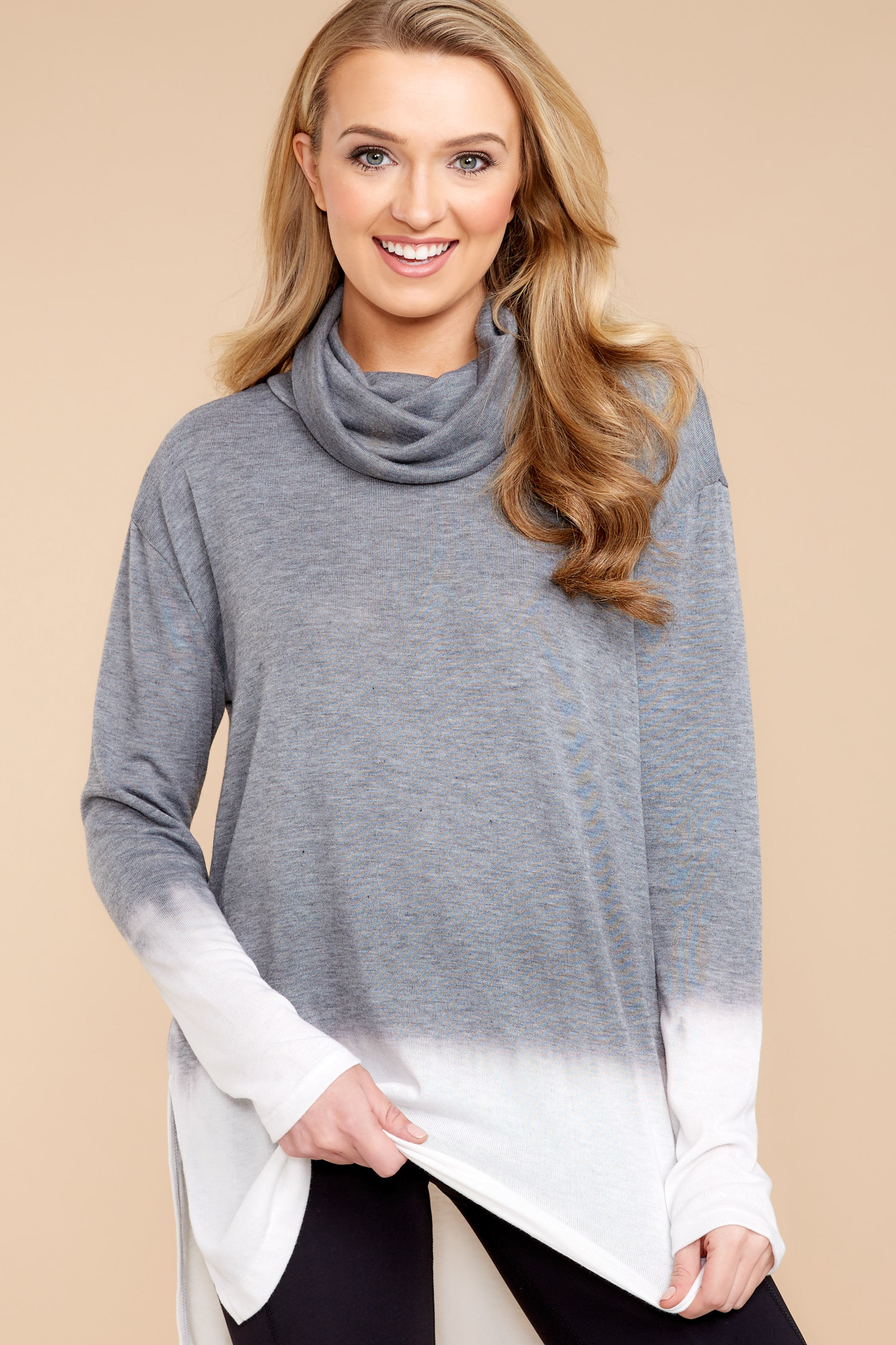 6 Take The Long Way Dark Grey Sweater at reddressboutique.com