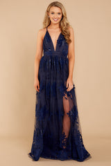 2 In Any Event Navy Blue Maxi Dress at reddressboutique.com