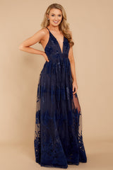 3 In Any Event Navy Blue Maxi Dress at reddressboutique.com