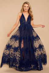 4 In Any Event Navy Blue Maxi Dress at reddressboutique.com