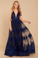 5 In Any Event Navy Blue Maxi Dress at reddressboutique.com