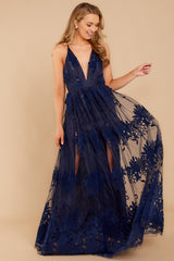 7In Any Event Navy Blue Maxi Dress at reddressboutique.com