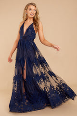 1 In Any Event Navy Blue Maxi Dress at reddressboutique.com
