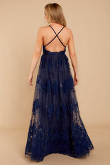 9 In Any Event Navy Blue Maxi Dress at reddressboutique.com