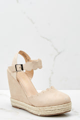1 With Every Heartbeat Nude Platform Wedges at reddress.com
