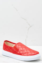 1 Elite Street Red Slip On Sneakers at reddressboutique.com