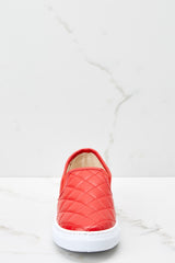 2 Elite Street Red Slip On Sneakers at reddressboutique.com
