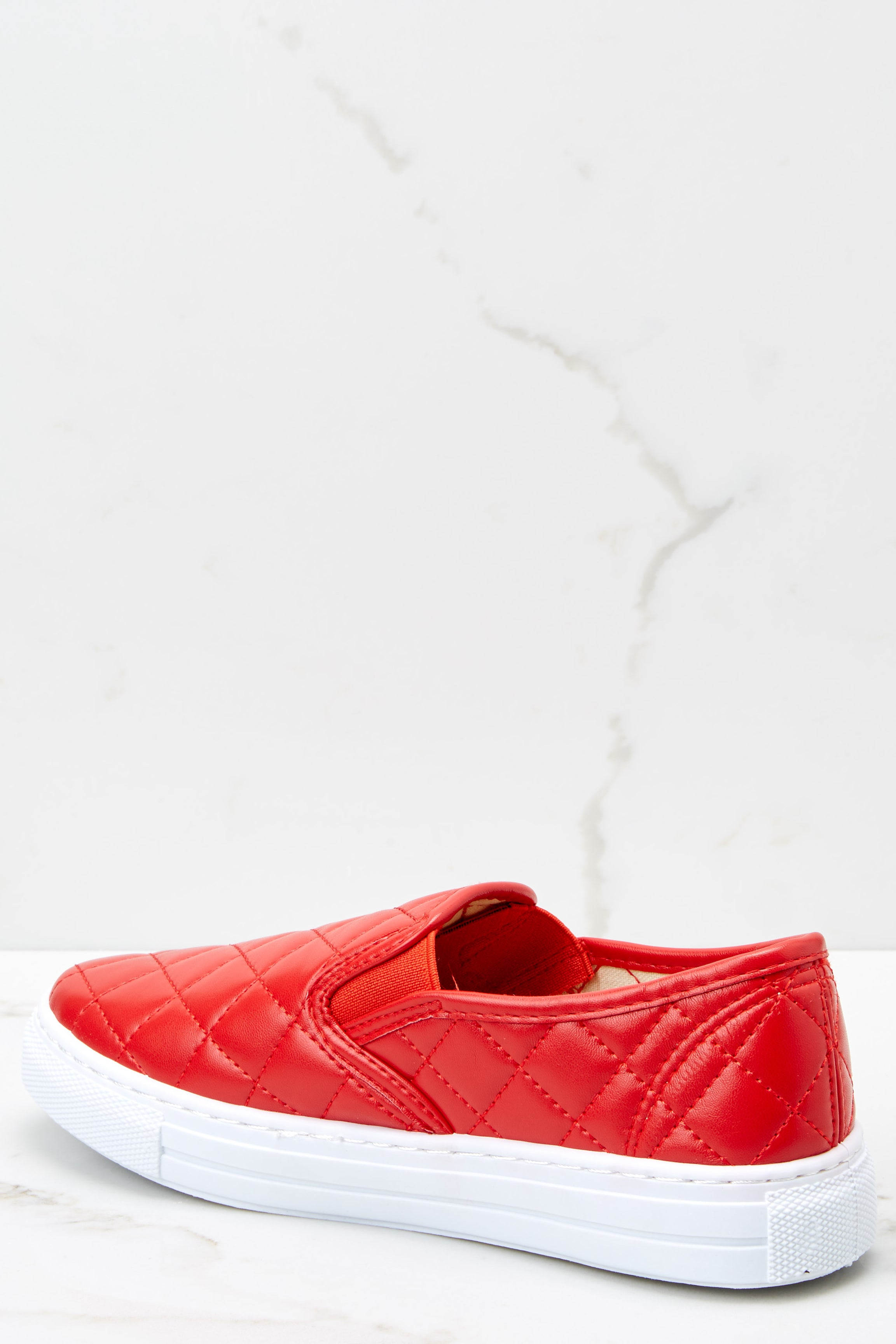 3 Elite Street Red Slip On Sneakers at reddressboutique.com