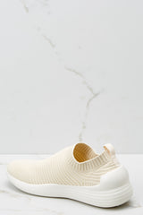 3 Easy Go Cream Slip On Sneakers at reddressboutique.com