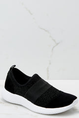 1 Future Favorite Black Sneakers at reddressboutique.com