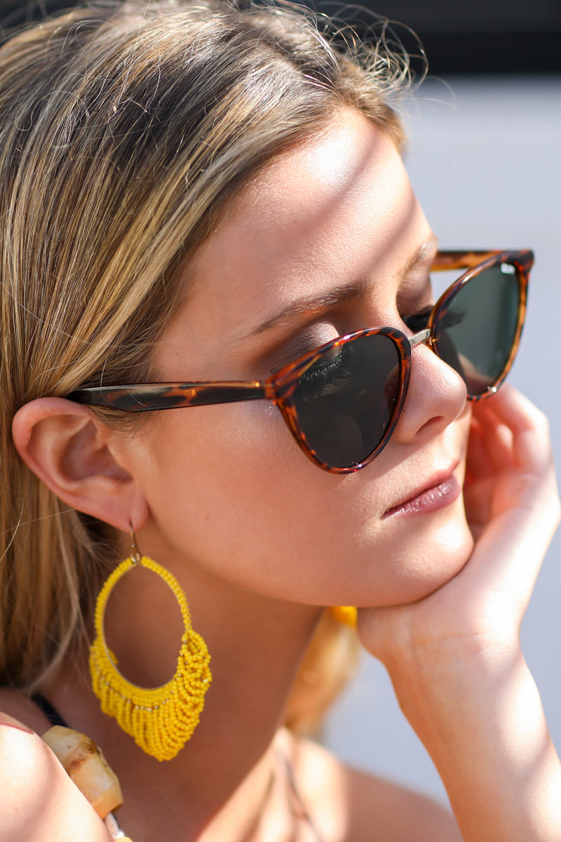 3  Quay Australia Rumours Tortoise Green Sunglasses at reddressboutique.com