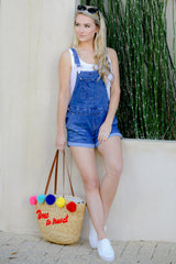2 No One Can Deny Short Denim Overalls at reddressboutique.com
