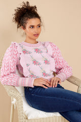 1 Warwick First Blush Pink Multi Pullover at reddress.com