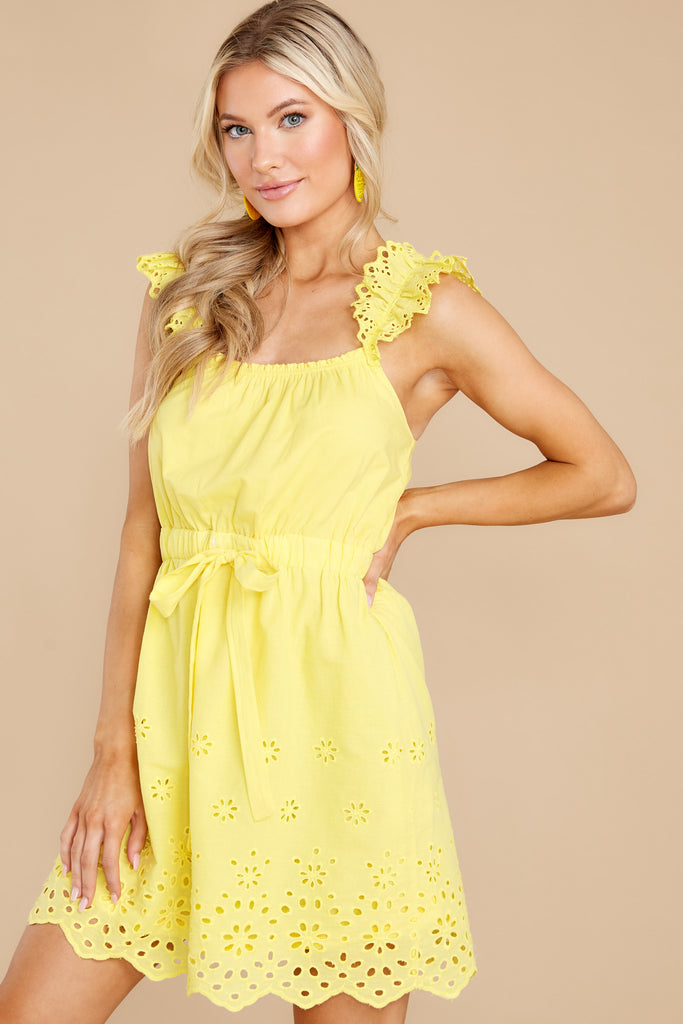 1 Far Away Places Yellow And Orange Floral Print Dress at reddress.com