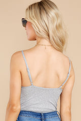 8 Everything's Changed Grey Bodysuit at Red Dress