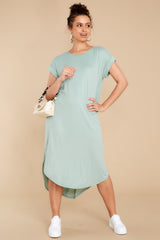 2 Come Away With Me Sage Midi Dress at reddress.com