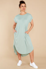 4 Come Away With Me Sage Midi Dress at reddress.com