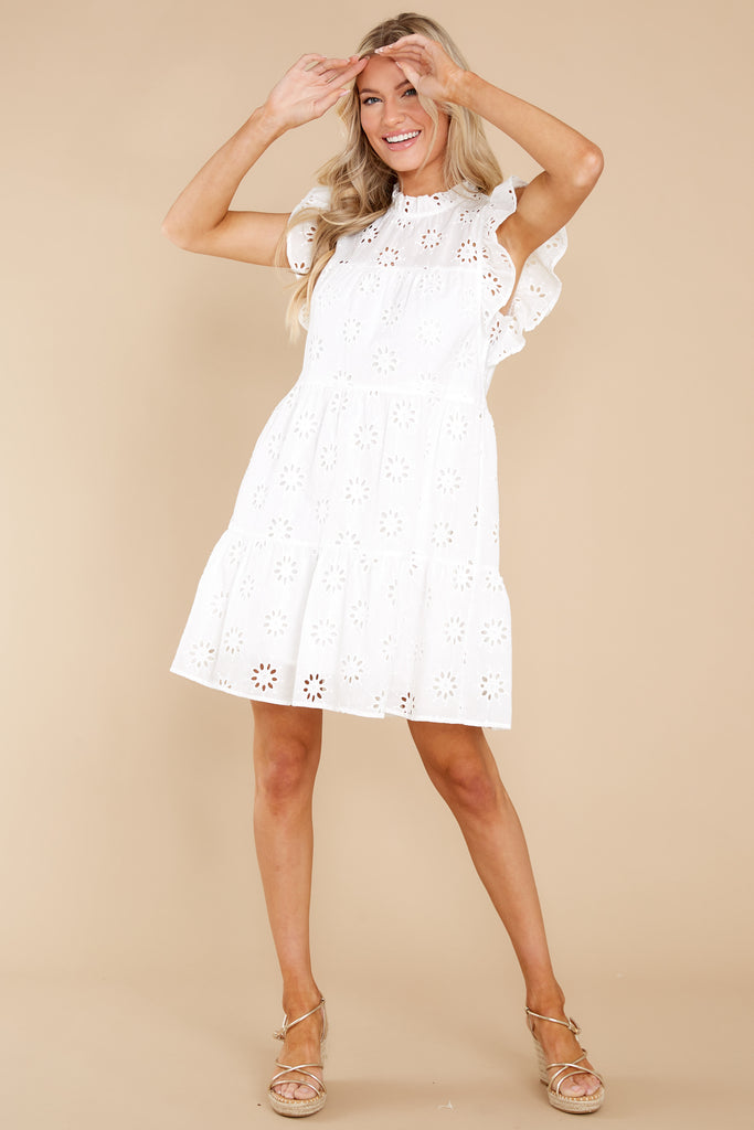 1 Lydia White Dress at reddress.com