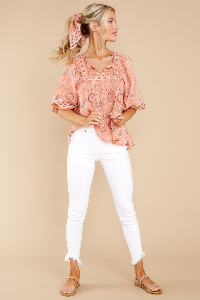 1 Amarills Cherry Blossom Print Top at reddress.com