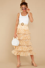 7 Lana Tiered Midi Skirt at reddress.com