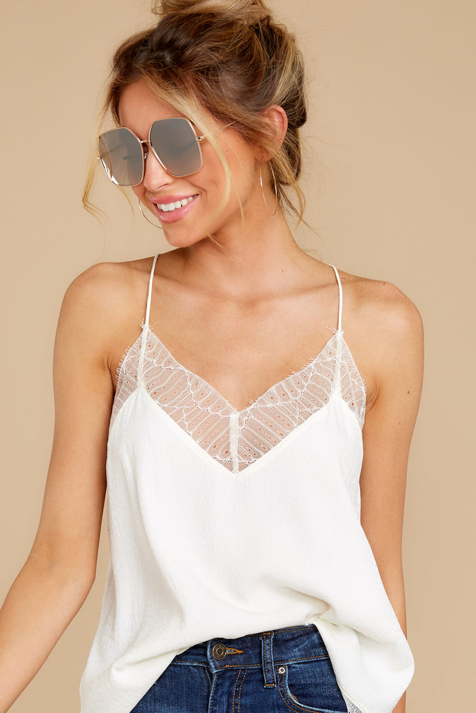 1 Here With You White Tank Top at reddress.com