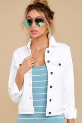 2 Framed By Love White Denim Jacket at reddress.com