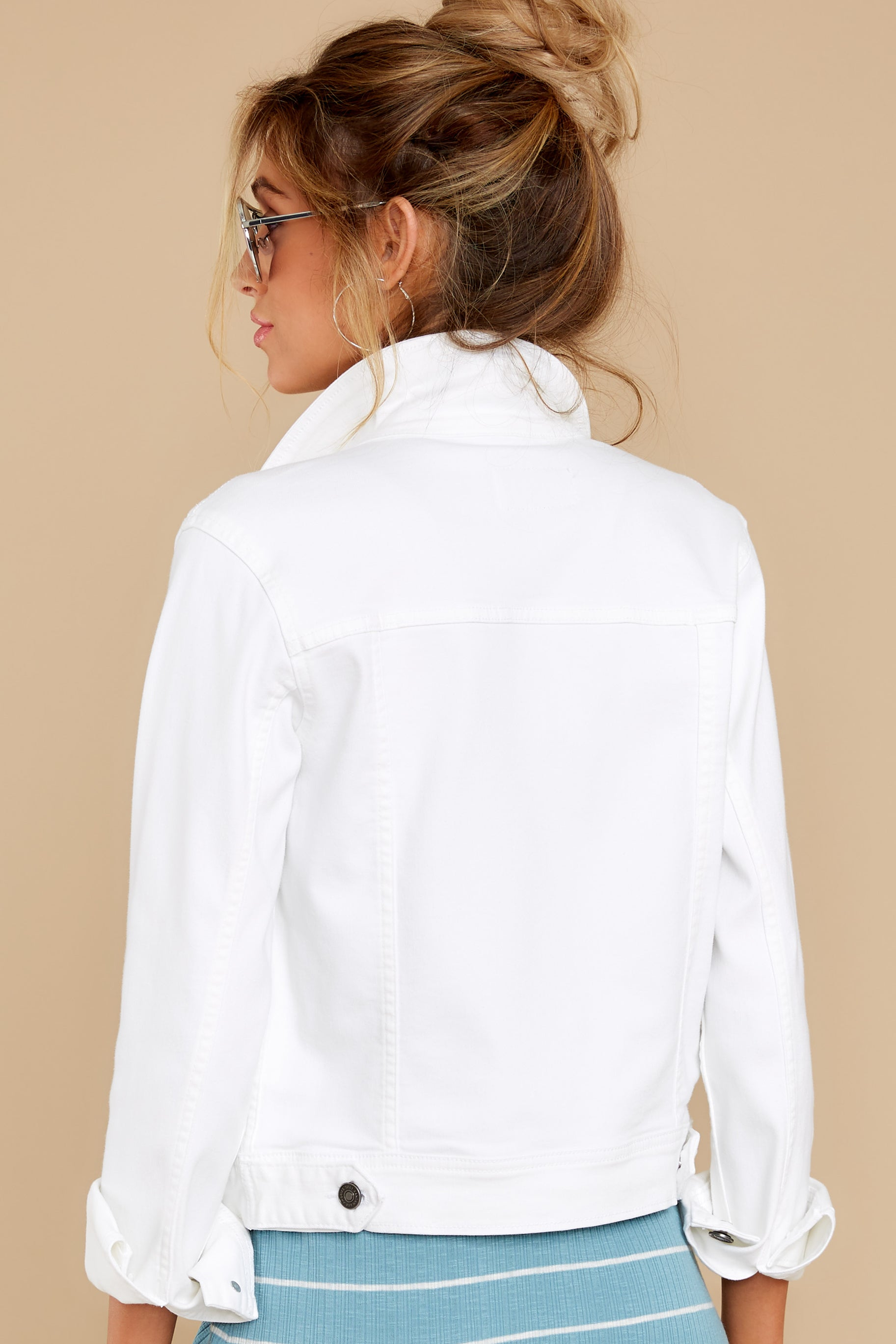 15 Framed By Love White Denim Jacket at reddress.com