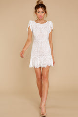 2 First Touch Ivory Lace Dress at reddress.com