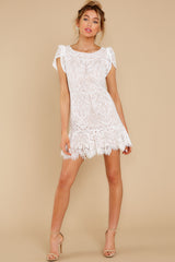 3 First Touch Ivory Lace Dress at reddress.com