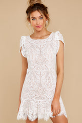 7 First Touch Ivory Lace Dress at reddress.com