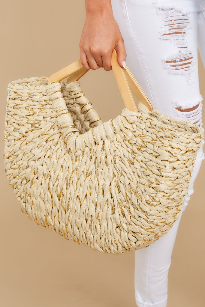 1 Pack The Punch Beige Multi Bag at reddress.com