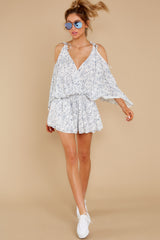 2 Dance To This White Print Romper at reddress.com