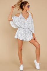3 Dance To This White Print Romper at reddress.com
