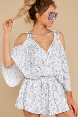 5 Dance To This White Print Romper at reddress.com