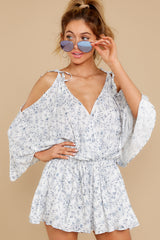 7 Dance To This White Print Romper at reddress.com