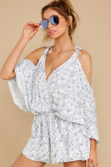 6 Dance To This White Print Romper at reddress.com