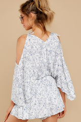 8 Dance To This White Print Romper at reddress.com