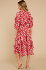 7 Make It Graceful Red Floral Print Dress at reddress.com