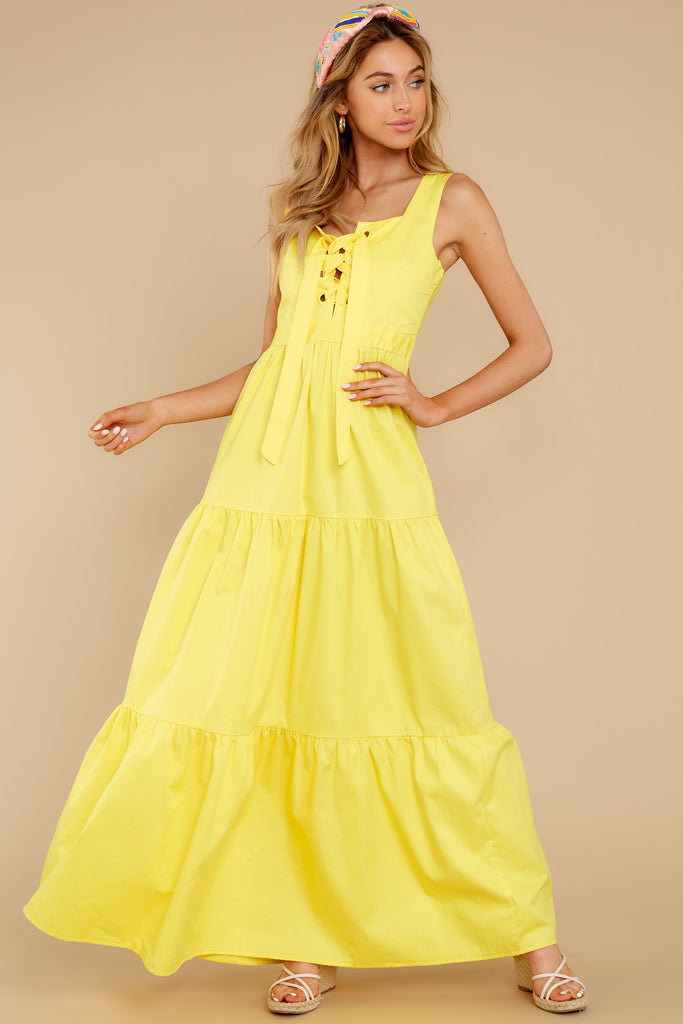1 Right Kind Of Attention Yellow Maxi Dress at reddress.com