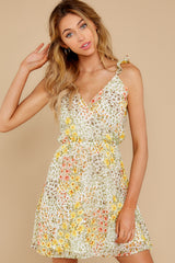5 Sunny Meadows Green Floral Print Dress at reddress.com