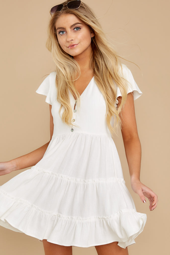 1 With Promises White Dress at reddress.com