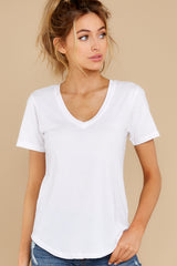The White V Neck Tee