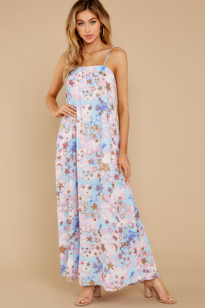 Every Fairytale Navy Multi Floral Print Maxi Dress