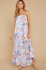 7 Shining Bright Pink Multi Maxi Dress at reddress.com