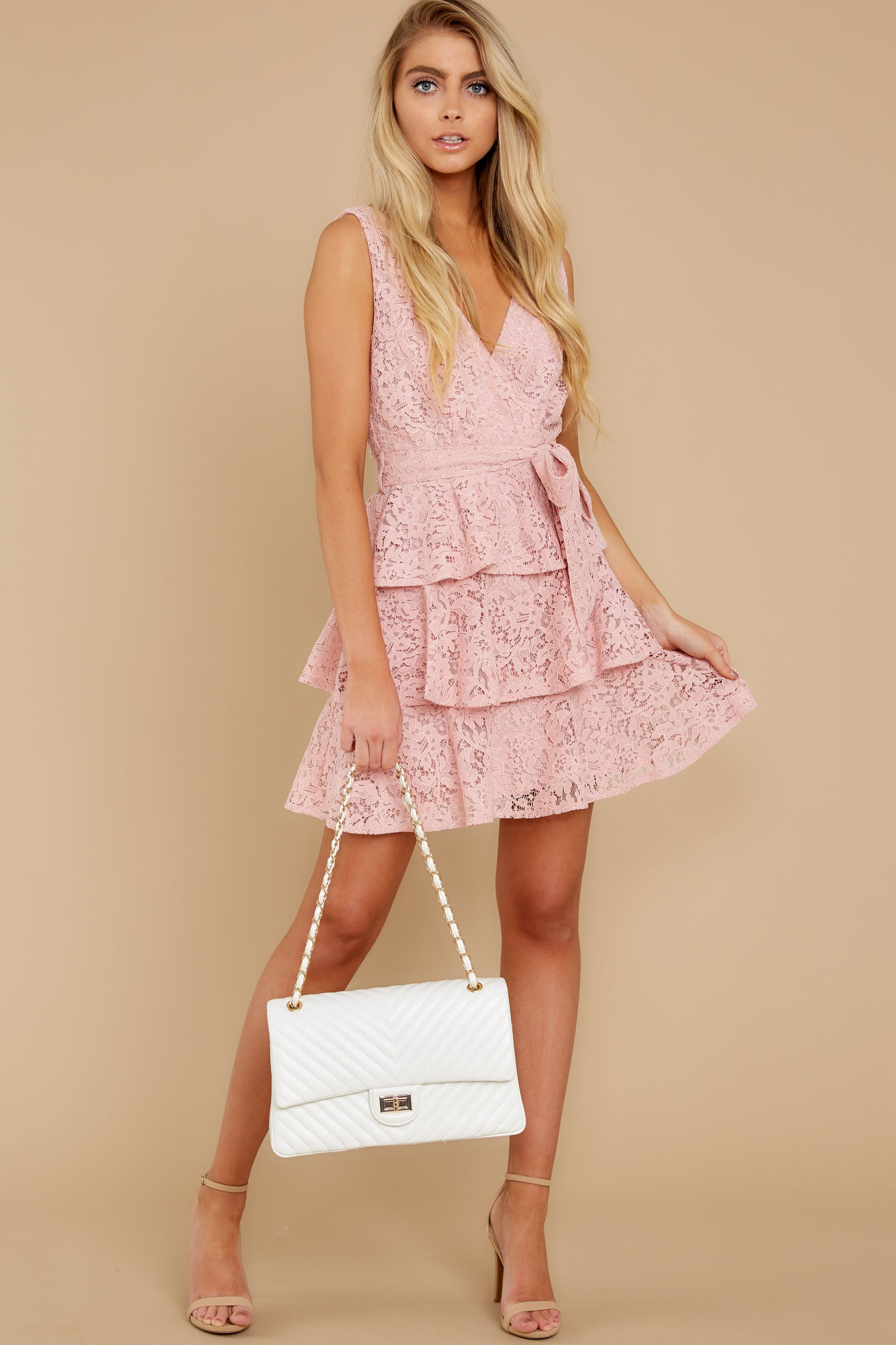 4 Take My Hand Light Pink Lace Dress at reddress.com